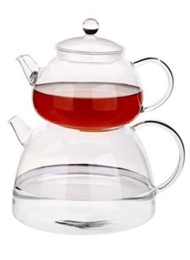 Tantitoni Borosilikat Cam Çaydanlık Takımı Renkli